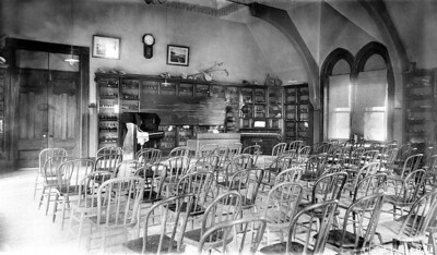 Second floor looking north in late 1800s
