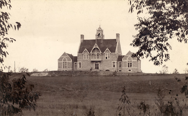 West side of Cutler as seen from the future site of Washburn Field, pre-1900