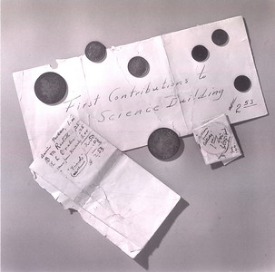 First Contributions to the Science Building, 1900 (Palmer Hall)