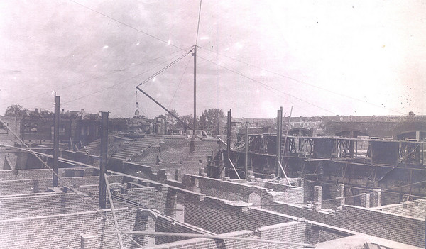 Palmer Hall Construction 1902, Sub-Basement Crawlspaces in the Foreground and Main Staircase in the Background