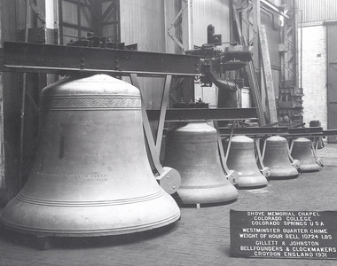 Shove Chapel Bells Prior to Shipping in Croydon England 1931