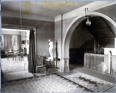 Ticknor Hall Main East Entry looking towards South Parlor Early 1900's