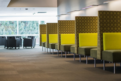One of the few areas in the library where seating is fixed, this space offers an alternative study area.