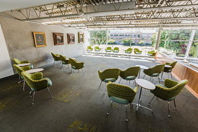 The library has space for small meeting, readings, and lectures.