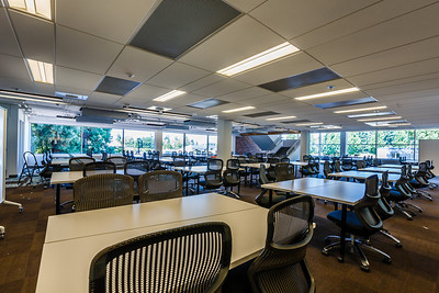 Collaborative group projects will come together in this workspace on the library's main floor.