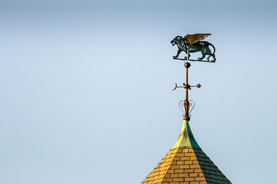 Cupola weathervane lion 10.20.12