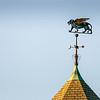 Hexagonal rooftop weathervane 10.20.12