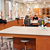 A SCIENTIFIC LEAP: The third-floor anatomy/physiology, chemistry and biology labs are well equipped with modern instruments and excellent ventilation, providing enough space for large classes or small.