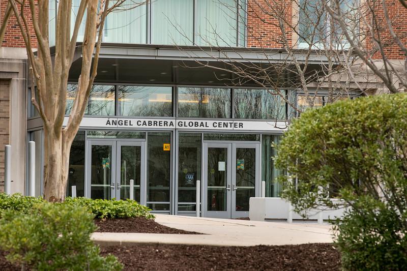 Ángel Cabrera Global Center in Fairfax Campus.  Photo by:  Ron Aira/Creative Services/ George Mason University