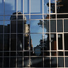 Reflection of Research Hall at Fairfax Campus.  Photo by Creative Services/George Mason University