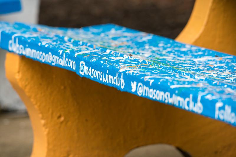Mason Swim Club Bench