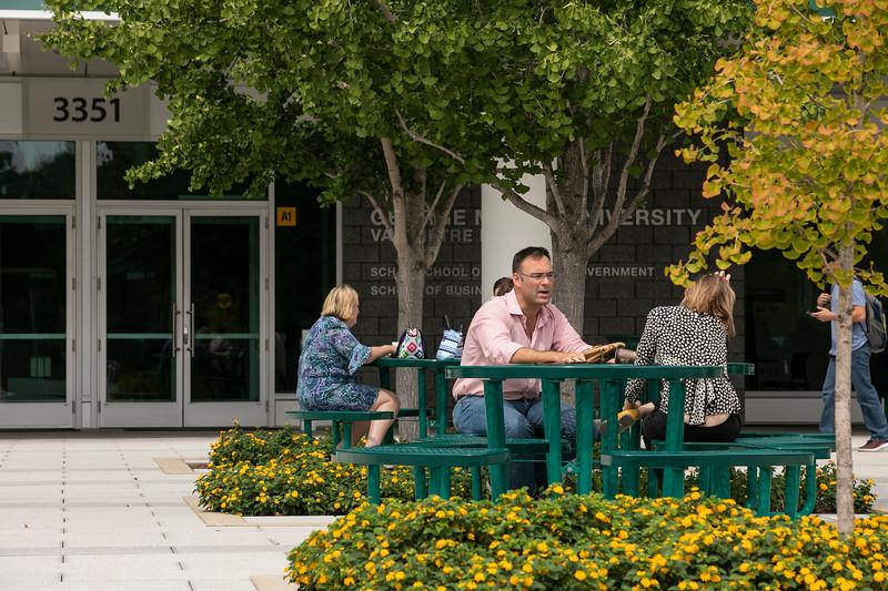 Arlington Campus Exterior.  Photo by:  Ron Aira/Creative Services/George Mason University