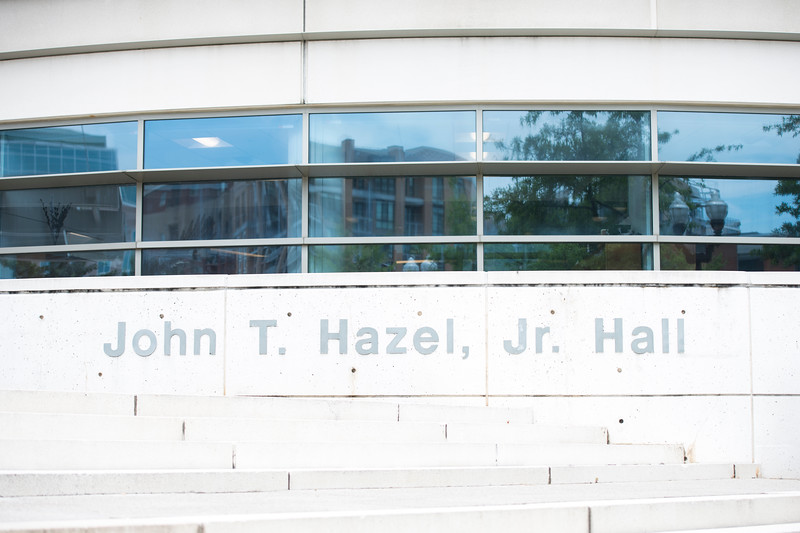 Hazel Hall on George Mason's Arlington Campus. (Bethany Camp/Creative Services/George Mason University)