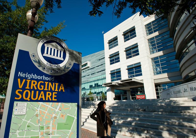 George Mason University Arlington Campus, Virginia Square sign. Photo by Creative Services/George Mason University