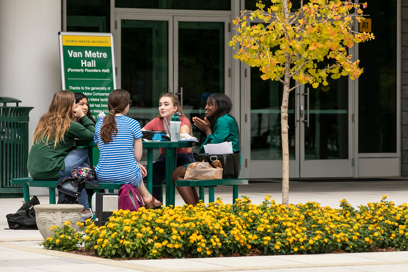 Arlington Campus Exterior.  Photo by:  Ron Aira/Creative Services/George Mason University