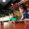 "Southside is a state of the art resident student restaurant that is open for all to enjoy. Designed in the popular ""euro-market"" style, Southside has six restaurants on the main dining floor (second) and a grab and go deli location on the ground floor. Photo by Nicolas Tan/Creative Services/George Mason University"