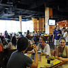 "Southside is a state of the art resident student restaurant that is open for all to enjoy. Designed in the popular ""euro-market"" style, Southside has six restaurants on the main dining floor (second) and a grab and go deli location on the ground floor. Photo by Creative Services/George Mason University 110726037e"