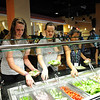 "Southside is a state of the art resident student restaurant that is open for all to enjoy. Designed in the popular ""euro-market"" style, Southside has six restaurants on the main dining floor (second) and a grab and go deli location on the ground floor. Photo by Creative Services/George Mason University 110726014e"