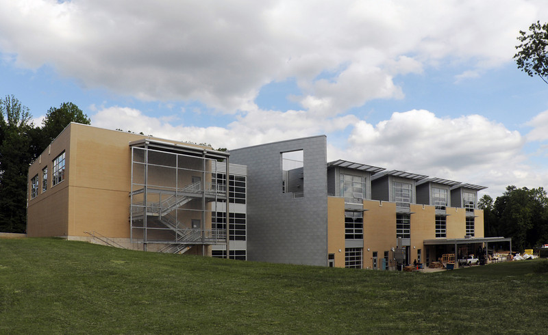 Art and Design building on the Fairfax Campus. Photo by Nicholas Tan/Photo by Creative Services/George Mason University
