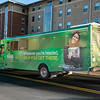 George Mason Bus Ads.  Photo by:  Ron Aira/Creative Services/George Mason University