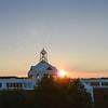 Johnson Center sunset