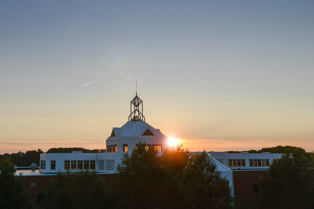 Johnson Center sunset