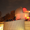 Research Hall observatory during an evening observing session. Photo by Evan Cantwell/Creative Services/George Mason University