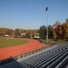 A view of the track and bleachers at the stadium of Fairfax Campus.  Photo by Evan Cantwell/Creative Services/George Mason University 111101010