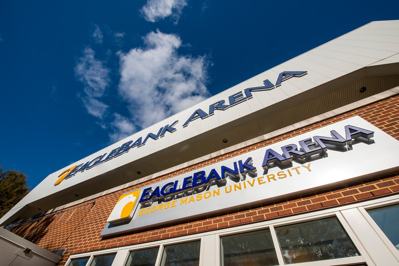 Eagle Bank Arena Sign