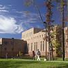 Students walk near Innovation Hall on the Fairfax Campus.  Photo by Creative Services/George Mason University 031031116