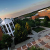 Johnson Center and plaza rooftop view
