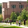 Students walk near Innovation Hall at Fairfax Campus. Photo by Alexis Glenn/Creative Services/George Mason University. 110914503