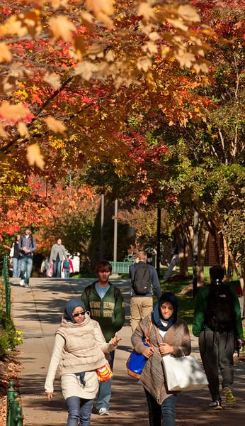 Students walk at Fairfax Campus.