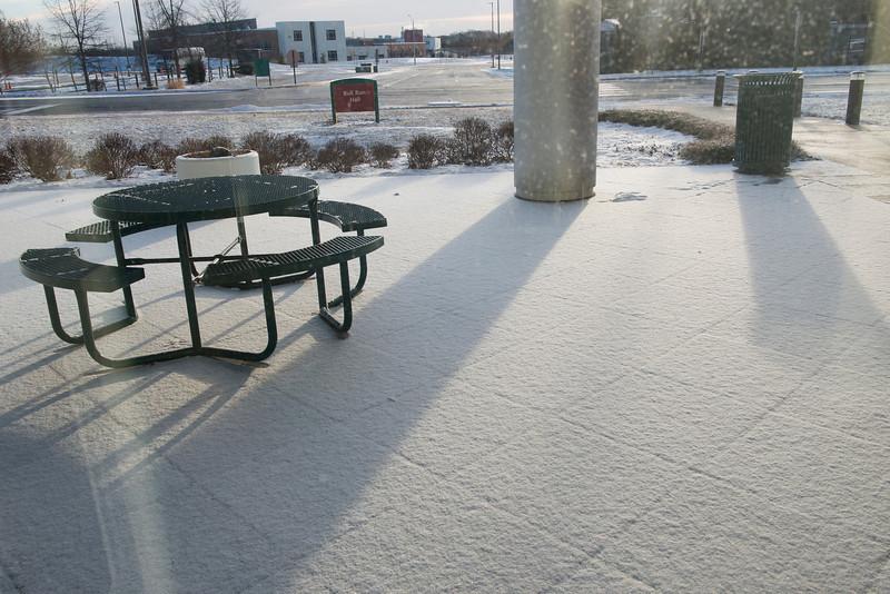 Snow at Katherine G. Johnson Hall