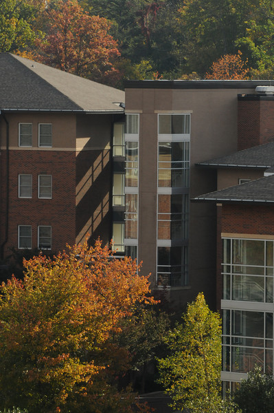 Presidents Park residential halls in autumn. Photo by Evan Cantwell/Creative Services