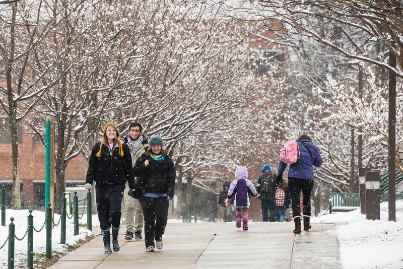 Snow at Fairfax Campus