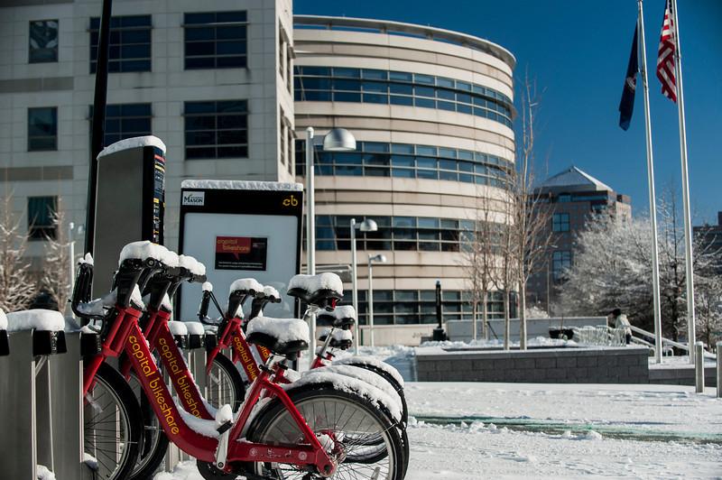 Snow at the Arlington campus