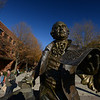 George Mason statue by artist Wendy Ross. Photo by Evan Cantwell/Creative Services/George Mason University
