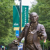 The George Mason statue.  Photo by Craig Bisacre/Creative Services/George Mason University