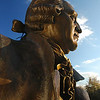 051201002 - The Mason Statue on the Fairfax Campus. Photo by Evan Cantwell/Creative Services/George Mason University