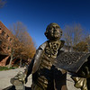 George Mason statue by artist Wendy Ross. Photo by Evan Cantwell/George Mason University