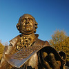 051201013e - The Mason Statue on the Fairfax Campus. Photo by Creative Services/George Mason University