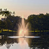 Mason Pond and Fountain in the morning. Photo by Creative Services/George Mason University