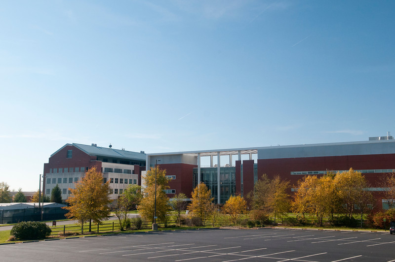 Bull Run Hall and Discovery Hall, Science and Technology Campus.  Photo by Creative Services/George Mason University