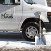 First snow on George Mason Fairfax Campus