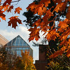 Enterprise Hall during Fall on the Fairfax Campus. Photo by Creative Services/George Mason University 061018006