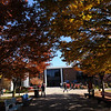 Student organizational club benches in the Fall.  Photo by Creative Services/George Mason University