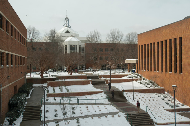 Snow on campus
