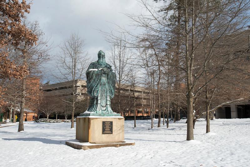 The Confucius statue