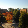 Johnson Center view from Robinson Hall in the fall. Photo by Creative Services/George Mason University 051104014